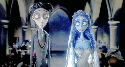 The Corpse Bride featuring the voices of Johnny Depp and Helena Bonham