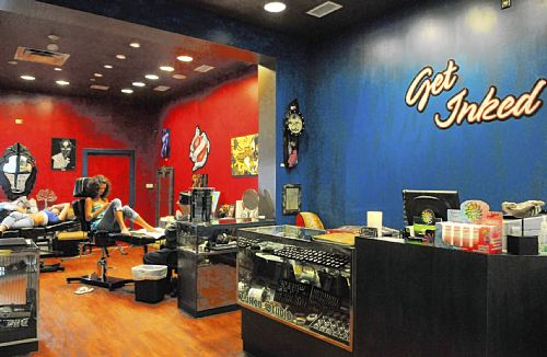 Get Inked at the Mall at Robinson is both a tattoo studio and a clothing